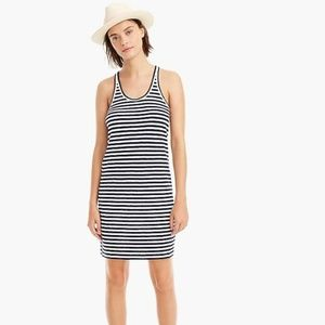 J.Crew Blue Green Stripe Racerback Tank Dress